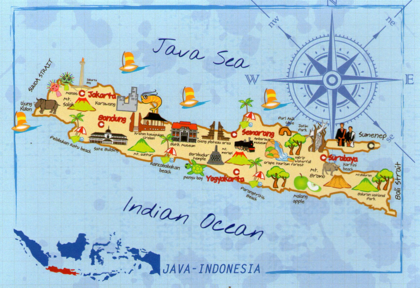 a history of indonesia and the island of java The colonial history of indonesia java was a militant conflict in 1811 between the united kingdom and the netherlands which occurred on the indonesian island java.
